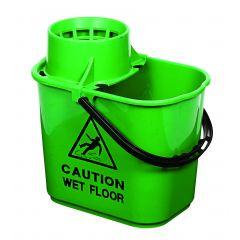 Mop Bucket & Wringer Green 1 X 15ltr | WQ15GN