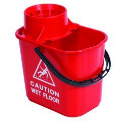 Mop Bucket & Wringer Red 1 X 15ltr | WQ15RE