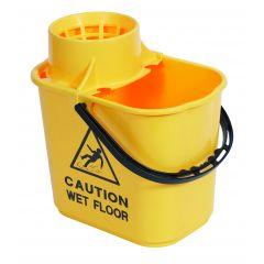 Mop Bucket & Wringer Yellow 1 X 15ltr | WQ15YE