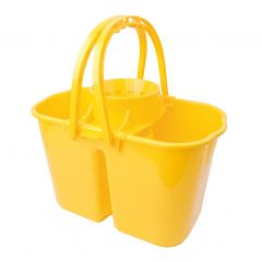 Double Mop Bucket & Wringer Yellow 15ltr | LK018YE