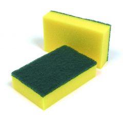 "Green Scourer Sponge Backed 6x4"" 1 X 10 | 593307"