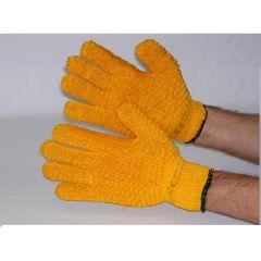 Glove Yellow Gripper Latex Criss Cross   GLO96
