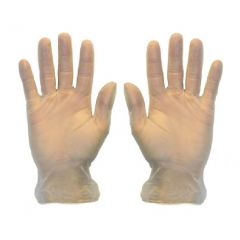 Clear Vinyl Gloves Large P F 1 X100 | LG034