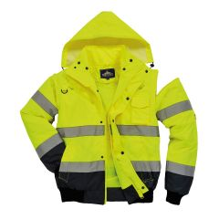 Portwest 3-in-1 Bomber Jacket C465 Available In Yellow/Navy