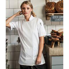 PR670 Womens Short Sleeve Chef Jacket