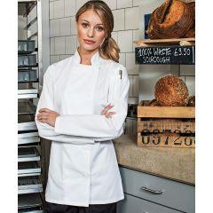 PR671 Womens Long Sleeve Chef Jacket